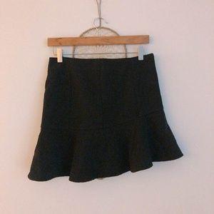Simple Sleek Black A Line Mini Skirt
